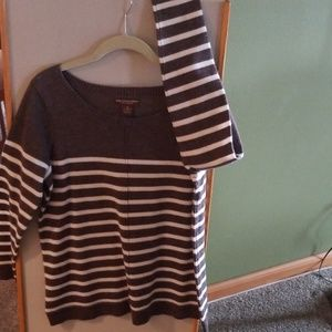 Brown and cream stripe Sweater Tunic